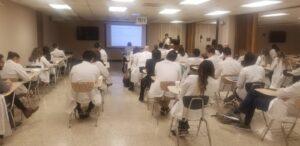 Doctors in classroom